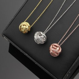plastic ball chain Australia - New Titanium steel rose T round ball necklace female 18K rose gold chain pendants for woman love necklace jeweley wholesale