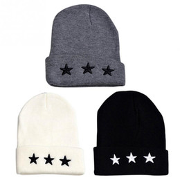 6e57780c06abb New Men Women Autumn Winter Thick and Warm Stylish Fashion Soft Knitted  Solid Star Pattern Wool Beanie Unisex Hat Casual Cap