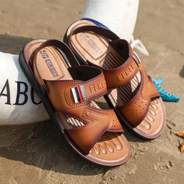 Discount fashionable male shoes - Fashionable Sandal Men Shoes Summer Male Shoes For Beach Brown Outdoor Sandals Slippers Water Slip-On Sandals Slides