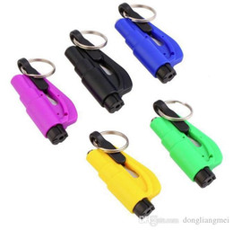 Auto Escape Australia - Mini 3 in 1 Seatbelt Cutter Emergency Hammer Glass Breaker Key Chain Smart AUTO rescue hand tool Safety Escape Lift Save with Whistle 200V37