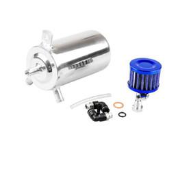 $enCountryForm.capitalKeyWord UK - Universal Silver Aluminum Car Engine Oil Catch Tank Breather Reservoir Can 500ml