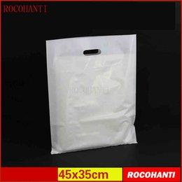 $enCountryForm.capitalKeyWord Canada - 100x Plastic bags custom made clothing bag with hanlde flat shopping bag 45 * 35CM customized LOGO printing #89892