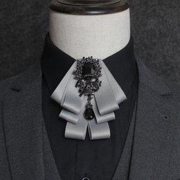 $enCountryForm.capitalKeyWord UK - Free shipping new men's male Spring suit collar flower gentleman Japan Korea rhinestone bow tie groom best man host