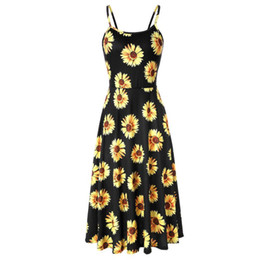 1f00129588f good quality Women s Sleeveless Adjustable Strappy Summer Floral Flared  Swing Dress sash summer 2018 Beach elegant mini dress vestido