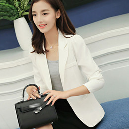 $enCountryForm.capitalKeyWord Australia - New Fashion Blazer Jacket for Women clothing Two Pockets Candy Color Coat Single Button Outerwear Female Office Lady Tops coat