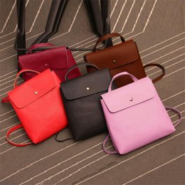 British Bags Wholesale Australia - Women Lady Leather Satchel Shoulder Backpack School Rucksack Bags Travel Fashion High Quality British Style PU Leather A8$