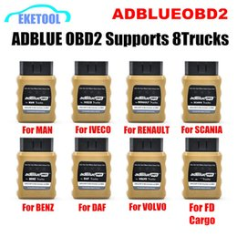 Heavy Duty Cameras Australia - 8pcs Lot AdblueOBD2 Works 8Kinds Truck Auto Heavy Duty For VOLVO DAF BENZ RENAULT SCANIA MAN IVECO Adblue OBD2 NOX Emulator