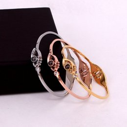 $enCountryForm.capitalKeyWord Australia - Hot Model Stainless Steel Eye 100 love language I love you bracelets bangles for women men designer love bracelets Valentine's day jewelry