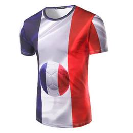 ee25b646d Summer New Arrvial Men Creative Flag Of France T-shirt 3d Print French Team  Paint 3d Fashion T-shirt Brand Clothing