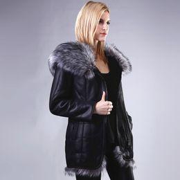 Women Warm Parka Australia - Women Artificial Big Fox Fur Warm Overcoat Faux Suede Jacket Very Thick Parkas Fashion Design Winter Coat Outwear Top Quality