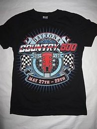 double color t shirts Australia - Daytona Country 500 Inaugural T Shirt Small BlaDesign Multi Color Double Sided Print