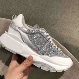 $enCountryForm.capitalKeyWord Australia - 2019 Spring New Patchwork Sneakers Women Glitter Casual Shoes Lace-up Platform Sport Shoes Thick Heel Dad Shoes Tennis Sneaker