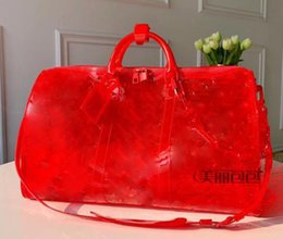 $enCountryForm.capitalKeyWord UK - 2019 New top pattern Luxury Laser Flash PVC Designer Handbags 50cm Transparent Duffle Bag Brilliant Colour Luggage Travel Bag Crossbod72bf#