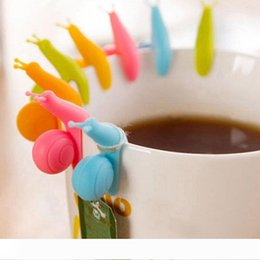 tea bag gifts NZ - 6 Colors to choose Cute Snail Shape Silicone Tea Bag Holder Cup Mug Candy Colors Gift Set GOOD Tea Tools tea infuser LX6026