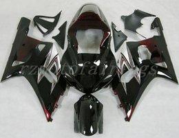Motorcycle Fairing Kits Abs Plastic NZ - 3Gifts New ABS Plastic Motorcycles Fairings Kit Fit For Suzuki GSXR600 GSXR750 GSX-R600 R750 01 02 03 K1 2001 2002 2003 custom glossy black
