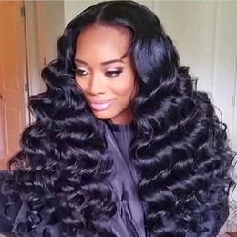 burmese hair Australia - 8A water wave Brazilian Hair Straight Human Hair Wigs with Baby Hair pre plucked Lace Front Wigs For Black Women can be permed