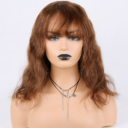 Long brown wavy hair online shopping - Glueless Lace Front Wigs With Natural Hairline Pre plucked Medium Brown Brazilian Hair Density Wavy For American