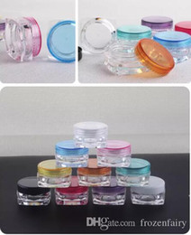 small plastic cosmetic containers 2019 - Free Shipping 4000pcs 5g mixed color 5G Cream Jars, Screw Caps,Clear Plastic Makeup Sub-bottling,Empty Cosmetic Containe