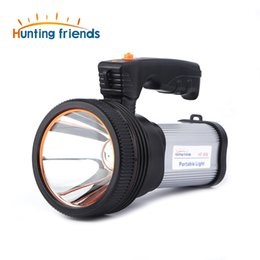 Wholesale 12pcs Hunting friends Super Bright LED Portable Light Built in mA li ion Battery USB Chaging cable Shoulder Strap