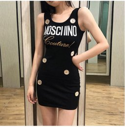 Polo Sleeveless Australia - Designer Sweaters New Autumn spring Embroidery mosch letter Tshirts Women Fashion polo Sweater dress Wool Sweater Sleeveless Plus Size