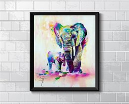 elephant piece painting Australia - Animal Elephant Son,1 Pieces Home Decor HD Printed Modern Art Painting on Canvas (Unframed Framed)