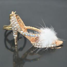 $enCountryForm.capitalKeyWord Australia - New Fashion Lady High-heeled Shoes Keychain Keyring Rhinestone Crystal Charm Pendant Key Bag Chain Christmas Girlfriend Gift