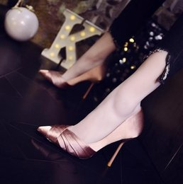(With box) Women Satin Suede Party Dress wedding high heels luxury Sexy  Office   Career shoes shallow mouth pointed Designer shoes 5fdd6a1131ce