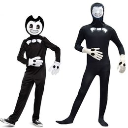 stage machines Australia - Bendy and the Ink Machine Kids Cosplay Costume Clothing For Halloween Party