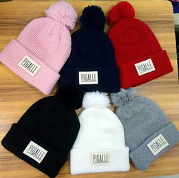 $enCountryForm.capitalKeyWord Australia - HOT Unisex Winter brand Palace Letter men Knitted hat fashion women casual warm Beanies hip hop skull caps pm-pom gorros Free shipping