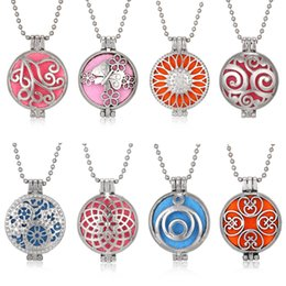 $enCountryForm.capitalKeyWord Australia - Aroma Diffuser Necklace With Pads Open Antique Vintage Silver Lockets Pendant Perfume Essential Oil Necklace Aromatherapy Locket Necklace
