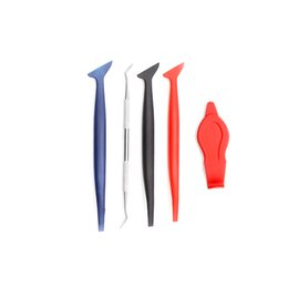 $enCountryForm.capitalKeyWord NZ - 5pcs Carbon Fiber Vinyl Film Wrap Car Tools Magnetic Corner Stick Squeegee Scraper Gasket Micro Window Tint Magnet Set