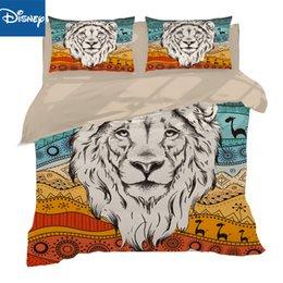 $enCountryForm.capitalKeyWord Australia - white Lion 3Piece au queen size Bedding Set Duvet Cover 3D Bed Set Animal Bedclothes Hot Sale 3D Bed Cover Pillow case