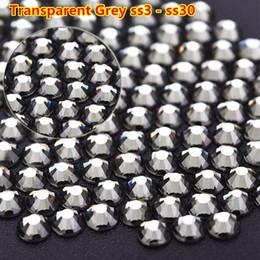 2058 Non Clear Black Diamond Color Stones Non Hotfix Glue on Flatback  Rhinestones Grey Crystals For DIY Needlework Garment 57bbbd150659