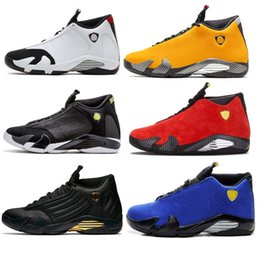 Shot ShoeS online shopping - Hot s mens Basketball Shoes Desert Sand DMP Last Shot Indiglo Thunder Oxidized Black Toe men air Sports j14 Sneakers trainers designer