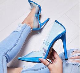 $enCountryForm.capitalKeyWord Australia - Hot Sale-Summer Clear PVC High Heels Pointed Toe Perspex Stilettos Slip on Transparent Pumps Womens Party Shoes