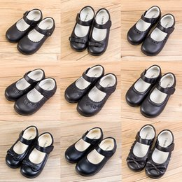 $enCountryForm.capitalKeyWord Australia - Kids Girls School Leather Shoes 7+ Buckle Strap Matte Bow Tie Girls Rubber Single Shoes Dance Peform Solid Shoes Party Casual Footwear 5-14T