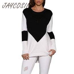 $enCountryForm.capitalKeyWord Australia - JAYCOSIN Clothes elegant women sweaters and pullovers ladies sweaters knitted long sleeve sweater 2019 winter Color Blocking top