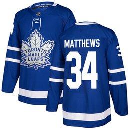 a8856fc17 Toronto Maple Leafs 34 Auston Matthews Jersey 91 John Tavares Hockey Mitchell  Marner William Nylander Frederik Andersen Blue White Stadium S