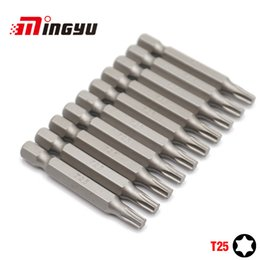 Power screwdriver bits online shopping - 10Pcs quot mm Torx T25 Screwdriver Bit Set Tools Repair Screwdrivers Kit Hex Shank Drill Bit For Power Household Hand Tools