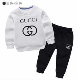 coat shirt pants Australia - A1 classic Luxury Logo Designer Baby t-shirt Pants coat jacekt hoodle sweater olde Suit Kids fashion Children's 2pcs Cotton Clothing Sets