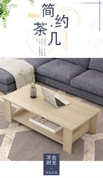 $enCountryForm.capitalKeyWord Australia - Nordic Tea Table Simple Modern Living Room Double-deck Simulated Wooden fashional simple particle board Small Huxing Assembles