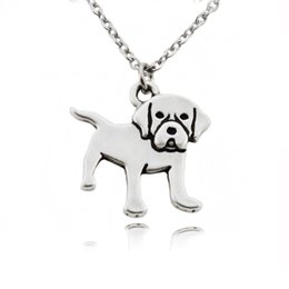 $enCountryForm.capitalKeyWord Australia - Cute Labrador Retriever Dog Charms Pendant Pet Love NecKlace Metal Stainless Steel Long Chain Animal Necklaces for Women Girl Party Gift