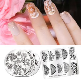 $enCountryForm.capitalKeyWord Australia - template BORN PRETTY Floral Template Abstract Lines Star Egypt Cartoon Nail Stamp Plate Stamper Scraper Nail Stamping Polish