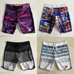 Venta al por mayor de 2019 hombres traje de baño 12 colores cuerda elástica impermeable de secado rápido a rayas tubo recto pantalones cortos de playa surf traje de baño de verano