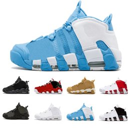 Chinese  2019 Air More Uptempo Women Mens Basketball Shoes, High Quality Tri-Color Scottie Pippen PE Triple White Athletic Sport Sneakers US 7-13 manufacturers