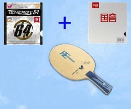 Tennis rackeT rubber online shopping - High Quality Table Tennis Rackets Long Handle ALC Short Handle T64 T05 T80 Ping Pong Bat Paddle Blade For PingPong Racket