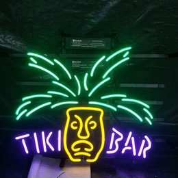 $enCountryForm.capitalKeyWord Australia - TIKI BAR Neon Sign Light Bar Advertising Entertainment Decoration Art Display Real Glass Lamp Metal Frame 17'' 24'' 30''40''