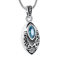 $enCountryForm.capitalKeyWord NZ - IJD8394 Flower Teardrop Stainless Steel Cremation Urn Necklace Inlay Multi-colored Crystal Memorial Jewelry For Ashes For Human