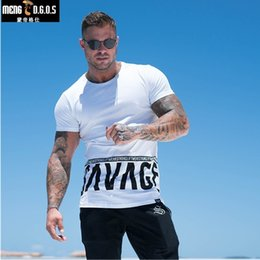 $enCountryForm.capitalKeyWord NZ - Men Summer Style Fashion Personality T Shirt Muscle Male Leisure Gyms Short Sleeves Slim Fit Tee Tops Clothing Q190518