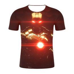 9fed7b9d964460 Men T Shirt 2019 Logo Tshirt Infinity Symbol T-shirt 3D Metal Marvel Tops  Captain Tees Fashion Clothes Venom
